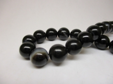 Black Striped Agate 10mm +/-37pcs