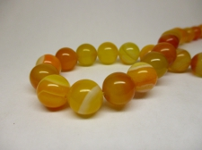 Orange Agate 6mm +/-64pcs