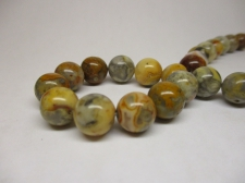 Carzy Lace Agate 10mm +/-38pcs