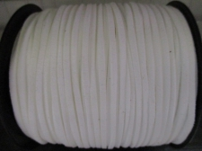 Flat Suede Cord 2.5mm White 90m