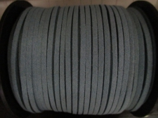 Flat Suede Cord 2.5mm Lt Blue 90m