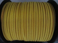 Flat Suede Cord 2.5mm Yellow 90m