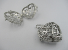 Pendant Cage 1pcs (N) 28x16mm Heart