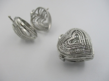 Pendant Cage 1pcs (N) 25x26mm Heart