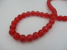 Crackle Glass 8mm Red +/-105pcs