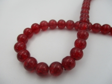 Crackle Glass 8mm Dk Red +/-105pcs