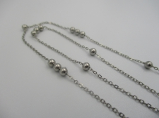Stainless Steel 1m Chain 0.5mm (3mm Ball)