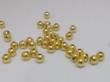 HOLLOW BEAD 4MM ROUND/BR 500PC