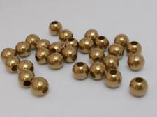 HOLLOW BEAD 5MM ROUND/RAW +/-300PCS