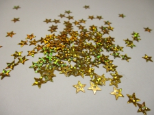 SEQUIN STAR GOLD LASER 100GRAM