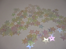 SEQUIN STAR CLEAR AB SP100GRAM