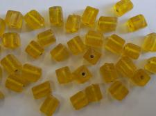 IGLASS 6MM CUBE YELLOW 100G