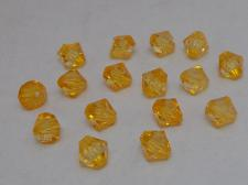 FACET 6MM BICON/AMBER 100G