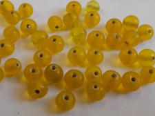 IGLASS 6MM RND YELLOW AB 100G