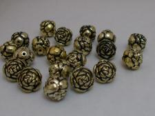 ROSE BEAD 9MM A.GOLD 100GRAMS