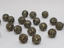 FILIGREE 6MM ROUND/KGP 50PCS