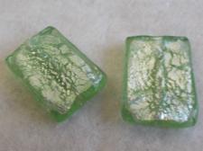 Foil Glass35x25mm Rect Mint+/-6pcs
