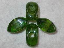 Chunky Glass 15x32mm +/-8pcs Green
