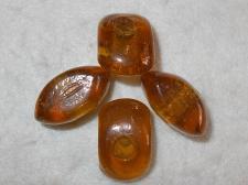 Chunky Glass 15x32mm +/-8pcs Brown