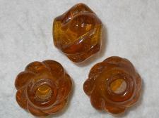 Chunky Glass 28mm +/-5pcs Brown