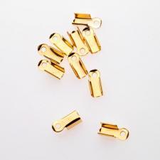 MEDIUM CRIMP GOLD 10MM 100PC LEAD/NICKEL FREE