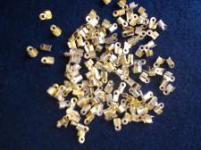 Small Leather Crimp Brass 200pcs