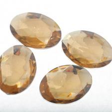RHINE 30X40MM OVL GOLD 10PC