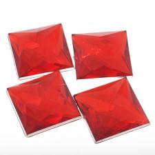 RHINE 30X30MM SQR RED 10PC